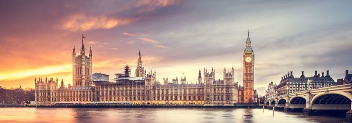 Photo of London at dawn