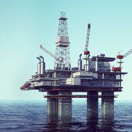 North Sea Oli Platform