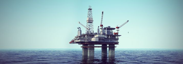 North Sea Oli Platform