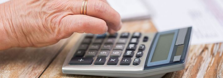 pensioner and calculator header