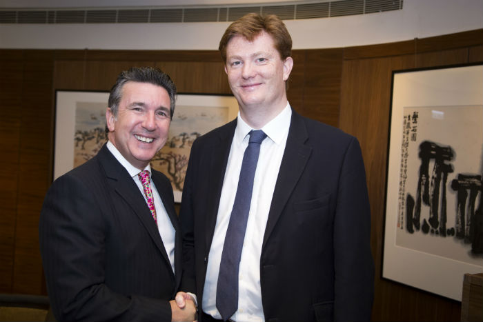 Sir Danny Alexander with ICAS CEO Anton Colella