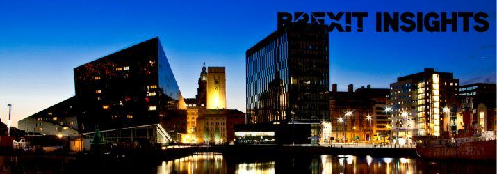 English city at night