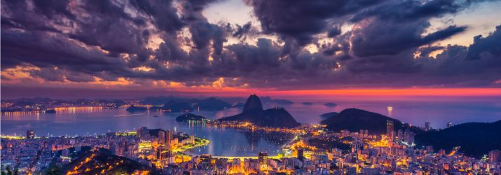 Brazil night city lights