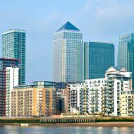 London cityscape sunlight